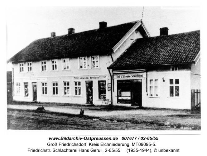 Groß Friedrichsdorf, Friedrichstr. Schlachterei Hans Gerull, 2-65/55