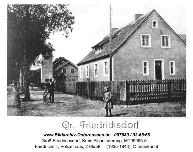Groß Friedrichsdorf, Friedrichstr., Polizeihaus, 2-65/58