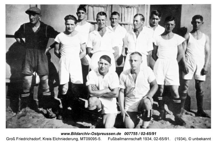 Groß Friedrichsdorf, Fußballmannschaft 1934, 02-65/91