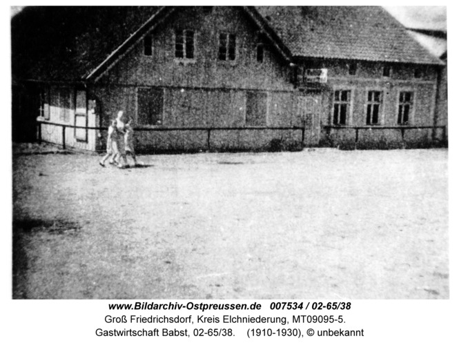 Groß Friedrichsdorf, Gastwirtschaft Babst, 02-65/38