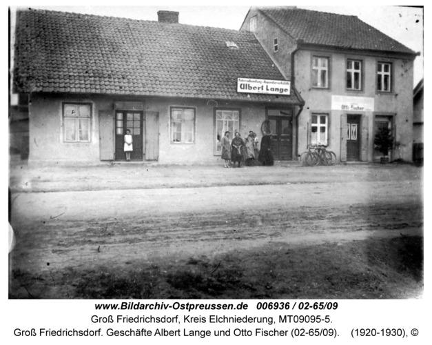 Groß Friedrichsdorf. Geschäfte Albert Lange und Otto Fischer (02-65/09)