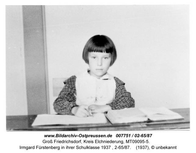Groß Friedrichsdorf, Irmgard Fürstenberg in ihrer Schulklasse 1937, 2-65/87