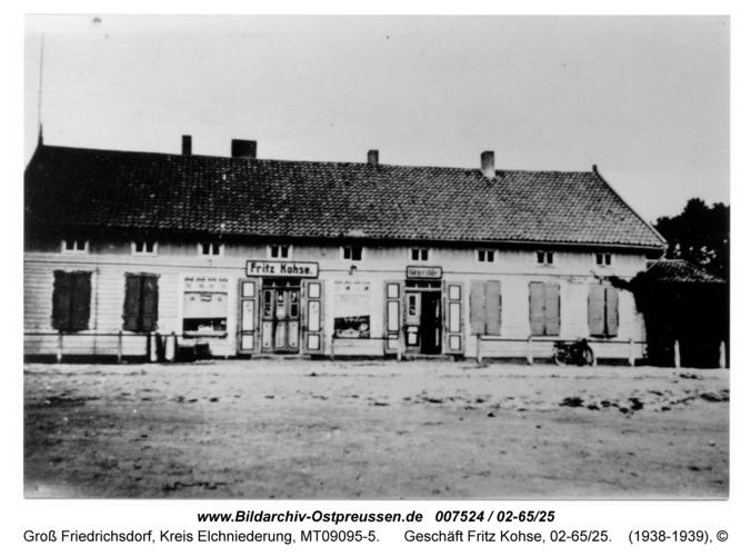 Gross Friedrichsdorf, Geschäft Fritz Kohse, 02-65/25