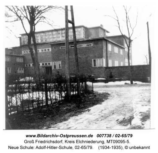 Groß Friedrichsdorf, Neue Schule: Adolf-Hitler-Schule, 02-65/79