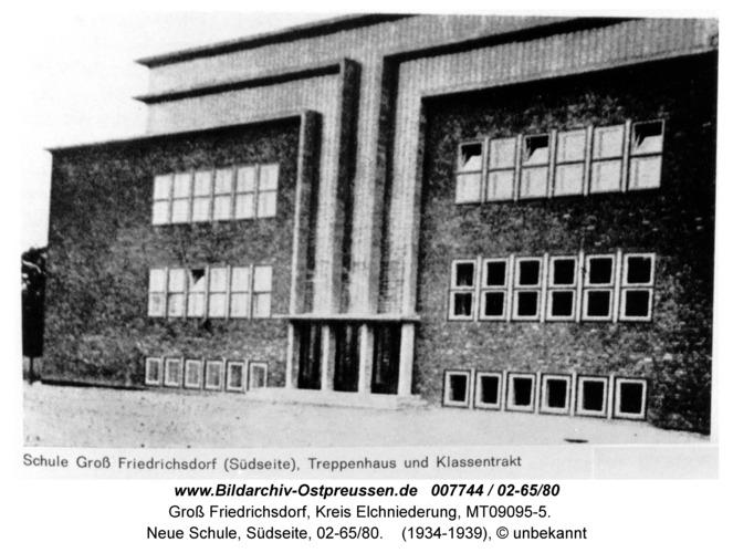Groß Friedrichsdorf, Neue Schule, Südseite, 02-65/80
