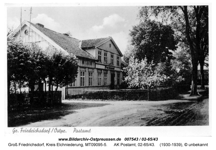Groß Friedrichsdorf, AK Postamt, 02-65/43