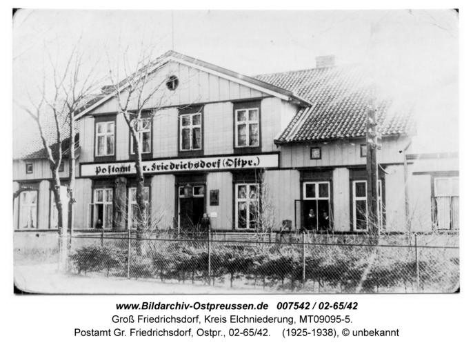 Groß Friedrichsdorf, Postamt Gr. Friedrichsdorf, Ostpr., 02-65/42