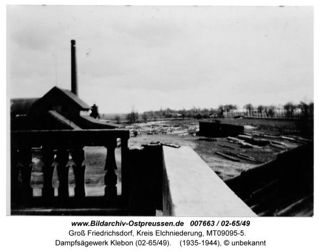 Gross Friedrichsdorf, Dampfsägewerk Klebon (02-65/49)