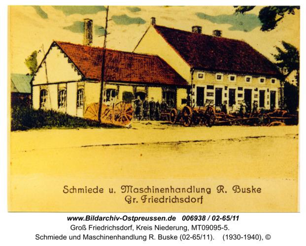 Groß Friedrichsdorf, Schmiede und Maschinenhandlung R. Buske (02-65/11)