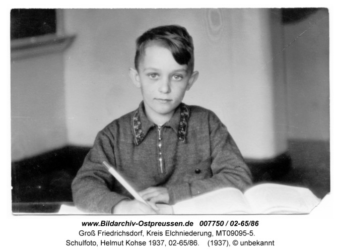 Groß Friedrichsdorf, Schulfoto, Helmut Kohse 1937, 02-65/86