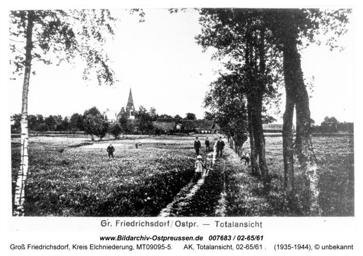 Groß Friedrichsdorf, AK, Totalansicht, 02-65/61