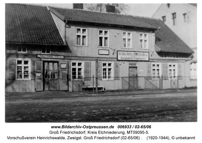 Groß Friedrichsdorf, Vorschußverein Heinrichswalde, Zweigst. Groß Friedrichsdorf (02-65/06)