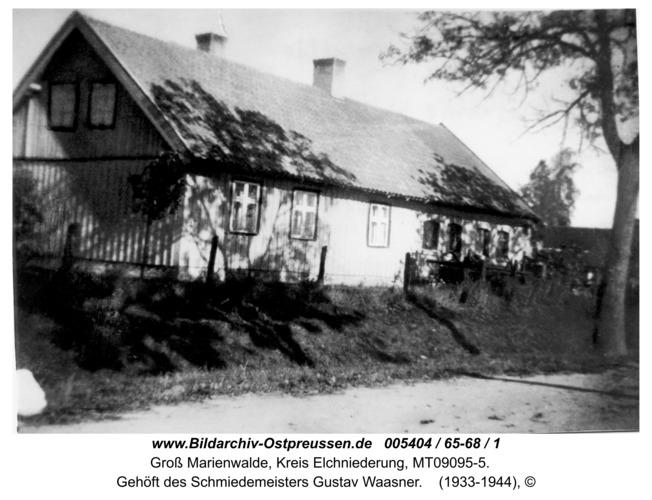 Groß Marienwalde, Gehöft des Schmiedemeisters Gustav Waasner