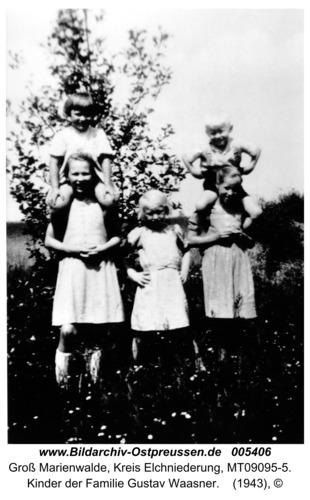Groß Marienwalde, Kinder der Familie Gustav Waasner