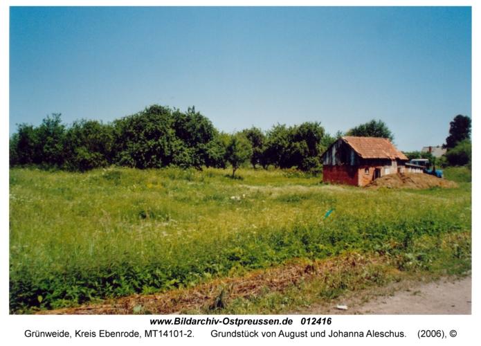 Grünweide, Grundstück von August und Johanna Aleschus