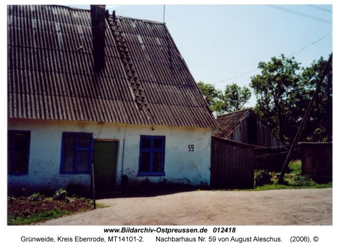 Grünweide, Nachbarhaus Nr. 59 von August Aleschus