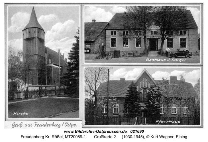 Freudenberg Kr. Rößel, Grußkarte 2