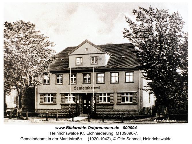 Heinrichswalde, Gemeindeamt in der Marktstraße