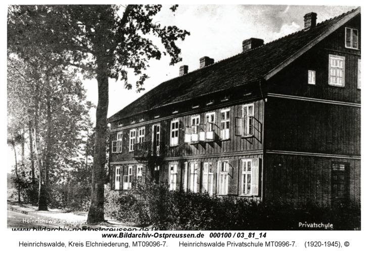 Heinrichswalde, Privatschule
