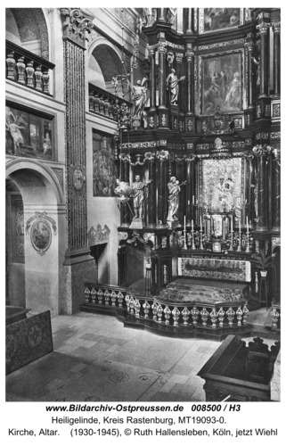 Heiligelinde, Kirche, Altar