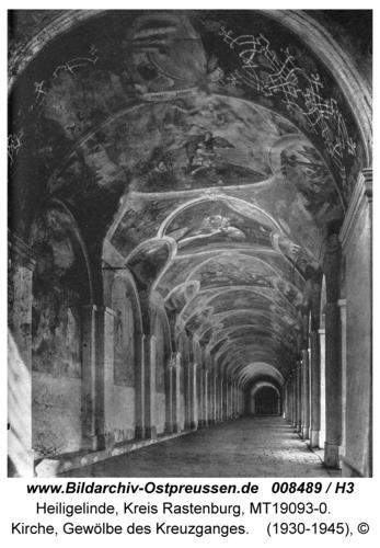 Heiligelinde, Kirche, Gewölbe des Kreuzganges