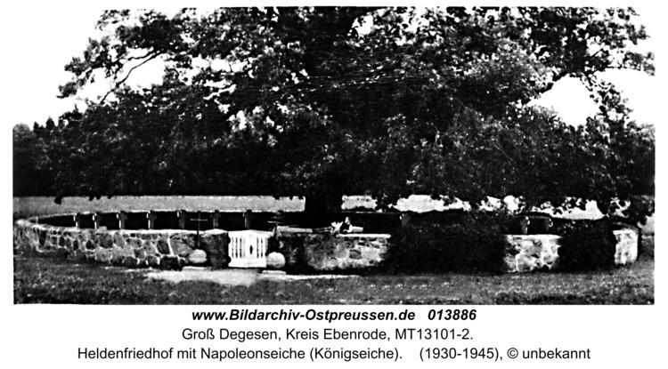 Groß Degesen, Heldenfriedhof mit Napoleonseiche