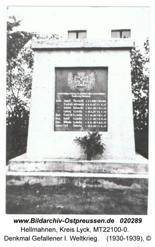 Hellmahnen, Denkmal Gefallener I. Weltkrieg