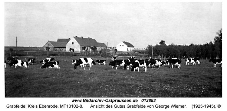 Grabfelde, Ansicht des Gutes Grabfelde von George Wiemer