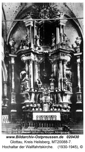 Glottau, Hochaltar der Wallfahrtskirche