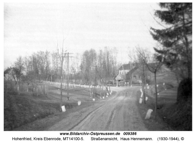 Hohenfried, Straßenansicht, Haus Hennemann