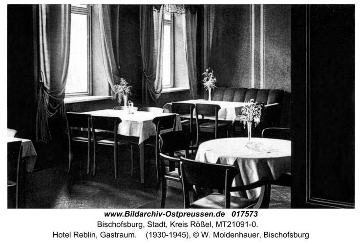 Bischofsburg, Hotel Reblin, Gastraum