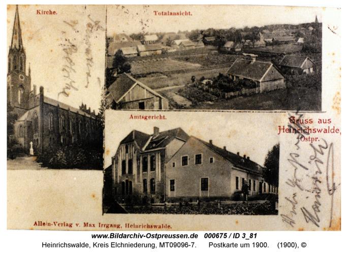 Heinrichswalde, Postkarte um 1900