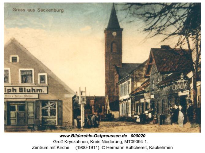 Seckenburg, Zentrum mit Kirche