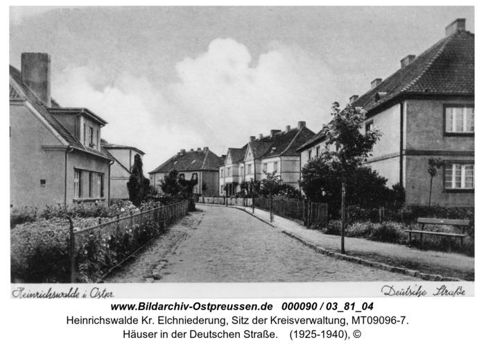 Heinrichswalde, Häuser in der Deutschen Straße