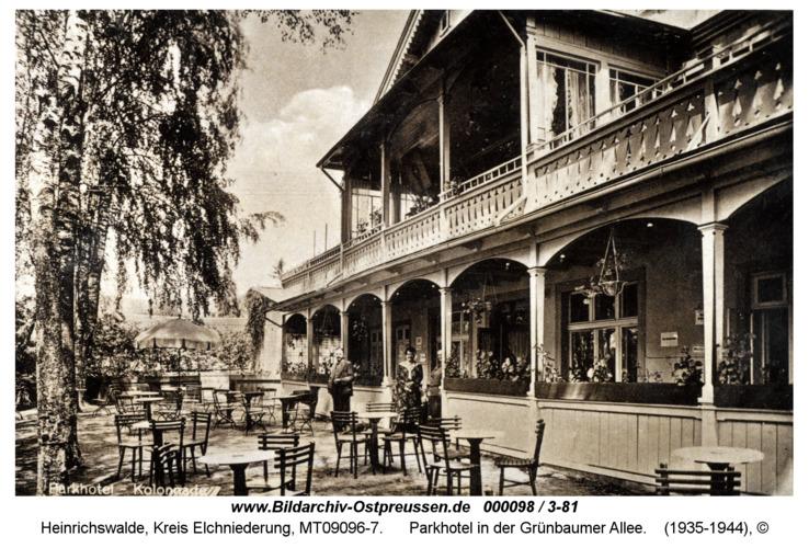 Heinrichswalde, Parkhotel in der Grünbaumer Allee