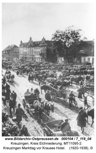 Kreuzingen Markttag vor Krauses Hotel