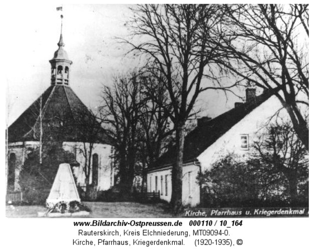 Rauterskirch, Kirche, Pfarrhaus, Kriegerdenkmal