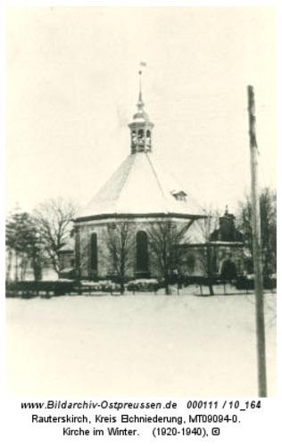 Rauterskirch, Kirche im Winter