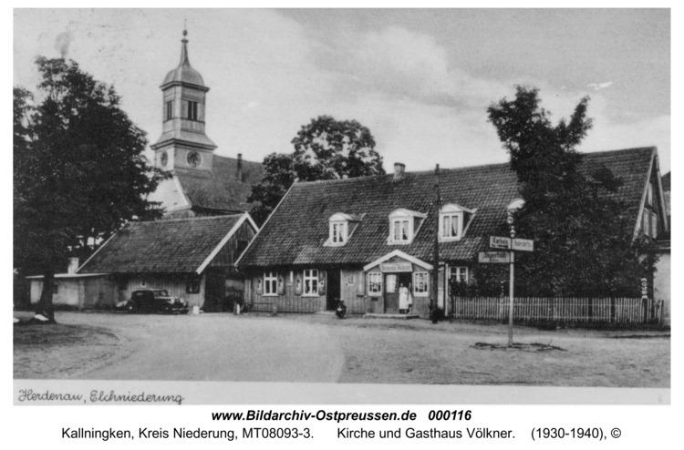 Herdenau, Kirche und Gasthaus Völkner