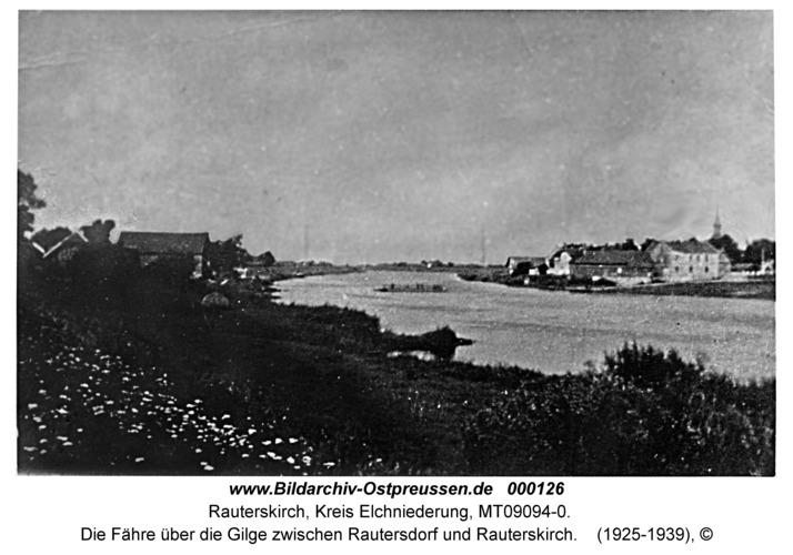Die Fähre über die Gilge zwischen Rautersdorf und Rauterskirch