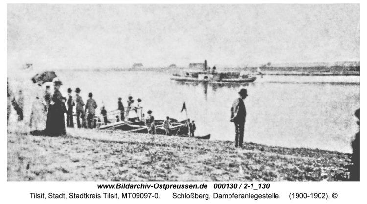 Tilsit, Schloßberg, Dampferanlegestelle