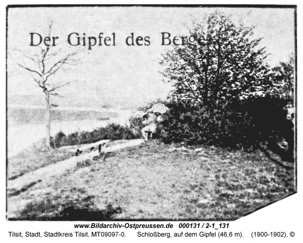Tilsit, Schloßberg, auf dem Gipfel (46,6 m)
