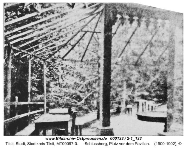 Tilsit, Schlossberg, Platz vor dem Pavillon
