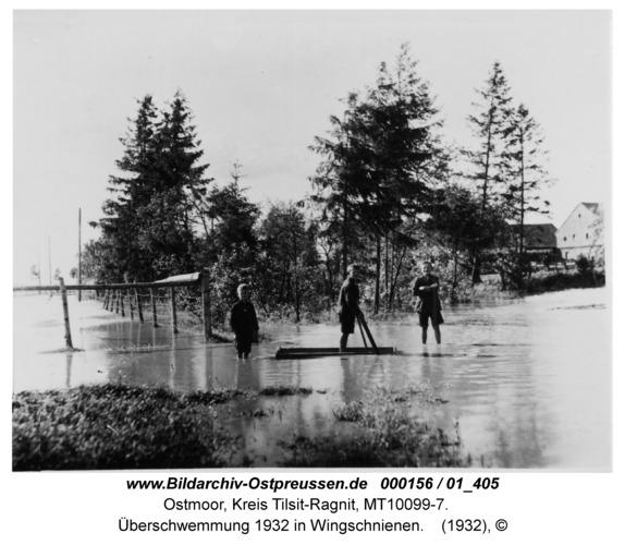 Ostmoor, Überschwemmung 1932 in Wingschnienen