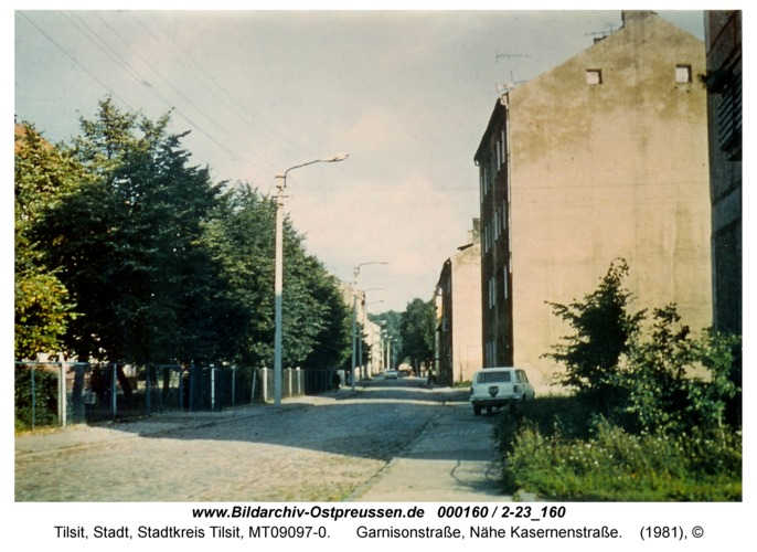 Tilsit, Garnisonstraße, Nähe Kasernenstraße