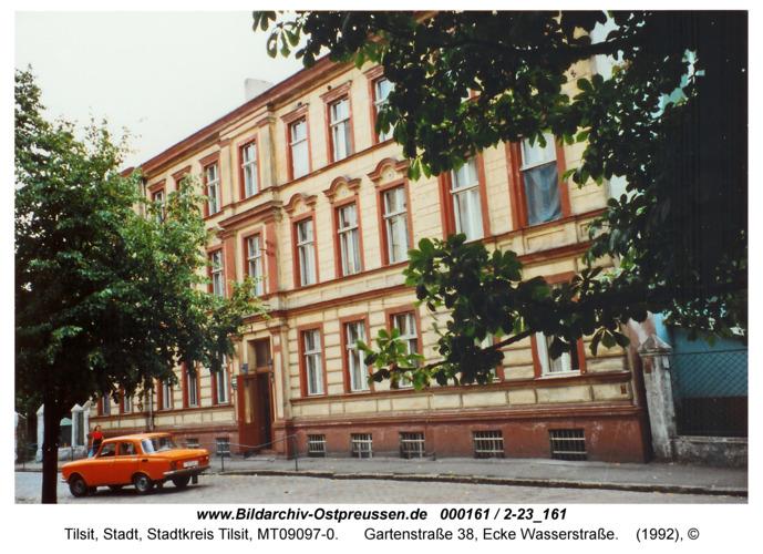 Tilsit, Gartenstraße 38, Ecke Wasserstraße