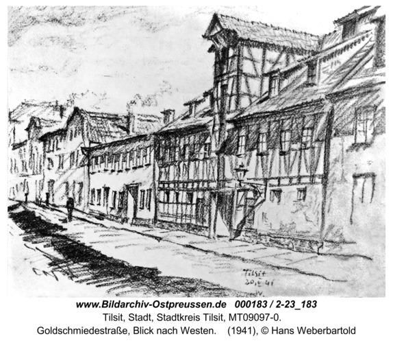 Tilsit, Goldschmiedestraße, Blick nach Westen