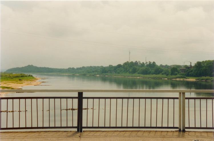 Tilsit, Blick von der Luisenbrücke nach Osten