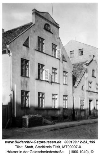 Tilsit, Häuser in der Goldschmiedestraße