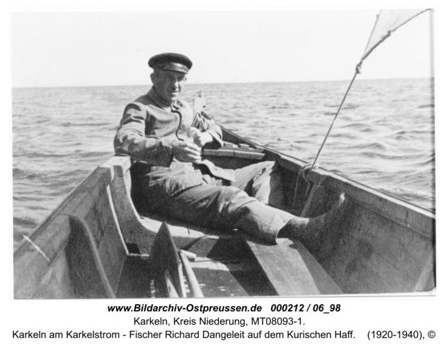 Karkeln am Karkelstrom - Fischer Richard Dangeleit auf dem Kurischen Haff